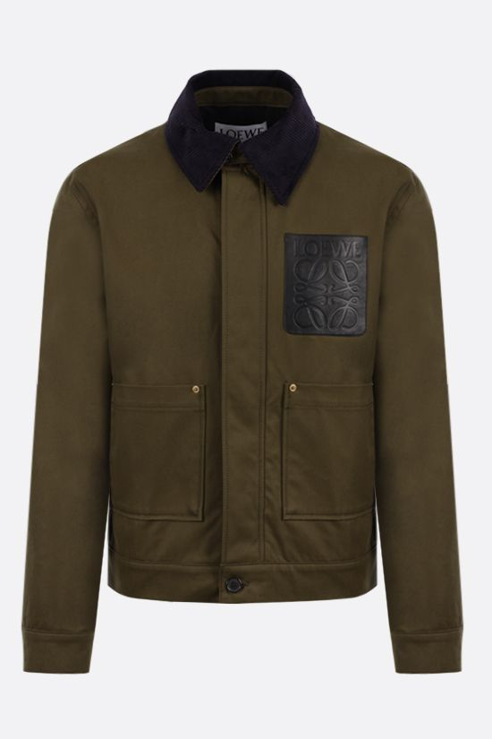 LOEWE: Anagram logo-detailed cotton overshirt Color Green_1