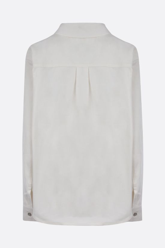 LOEWE: leather pocket denim overshirt Color Neutral_2