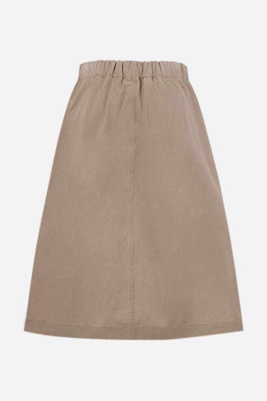 LOEWE: belt-detailed cotton midi skirt Color Neutral_2