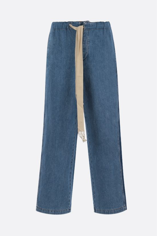 LOEWE: drawstring-detailed loose-fit jeans Color Blue_1