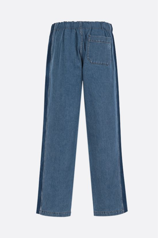 LOEWE: drawstring-detailed loose-fit jeans Color Blue_2