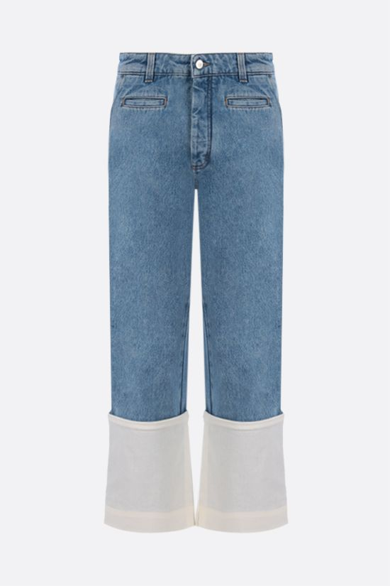LOEWE: Fisherman cropped jeans Color Blue_1