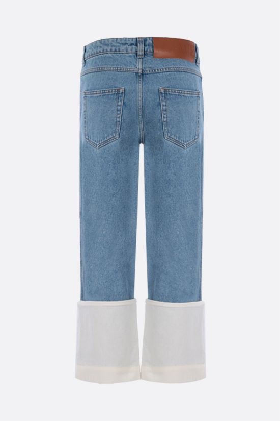 LOEWE: Fisherman cropped jeans Color Blue_2