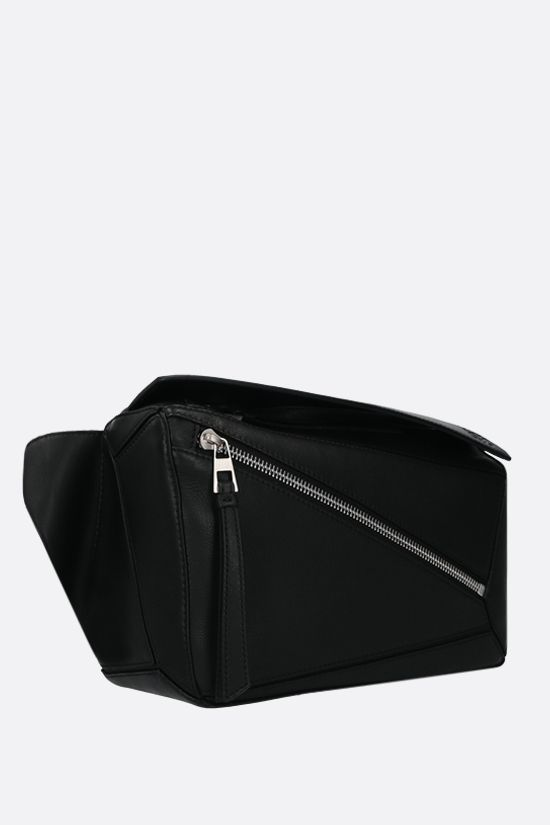 LOEWE: Puzzle small smooth leather belt bag Color Black_2