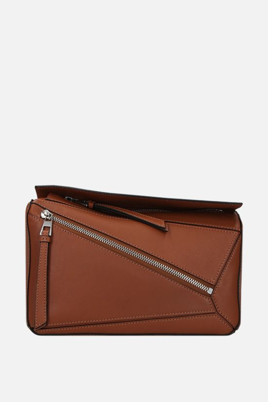 LOEWE: Puzzle small smooth leather belt bag Color Brown_1