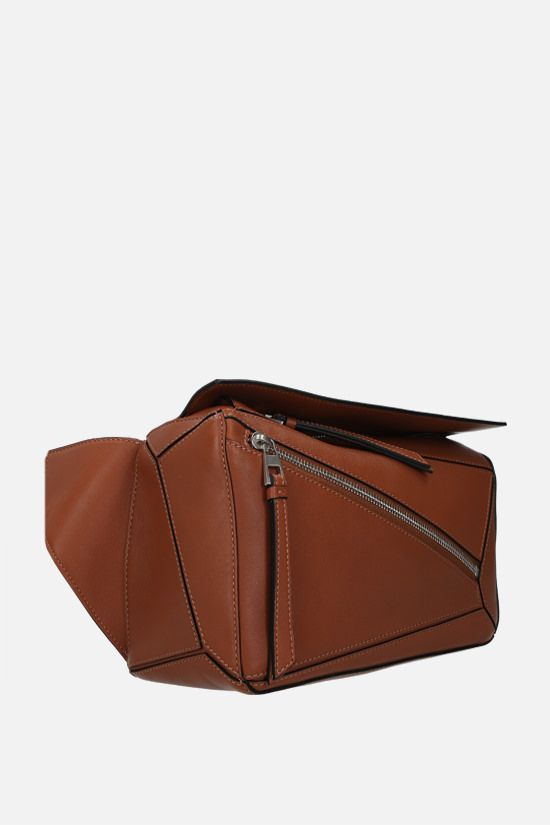 LOEWE: Puzzle small smooth leather belt bag Color Brown_2