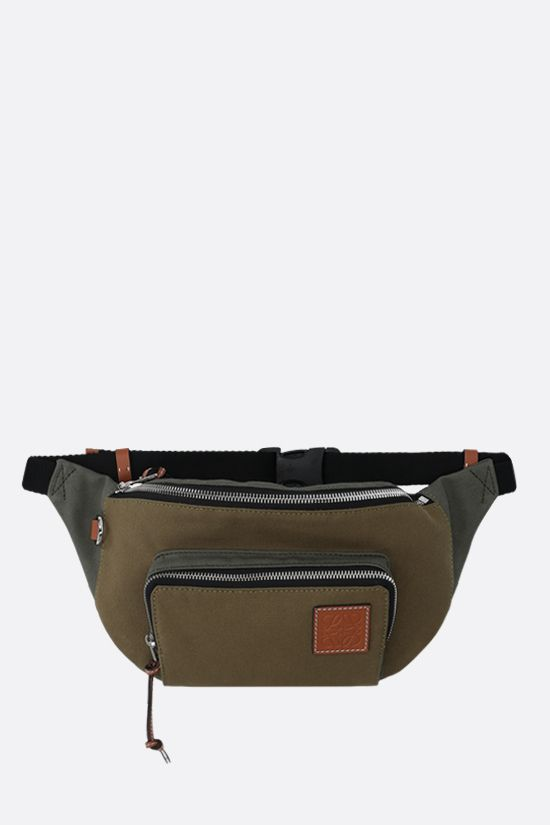 LOEWE: marsupio in canvas patch Anagram Colore Marrone_1