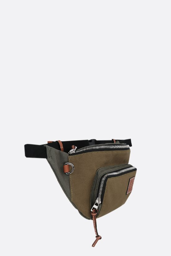 LOEWE: Anagram patch canvas belt bag Color Green_2