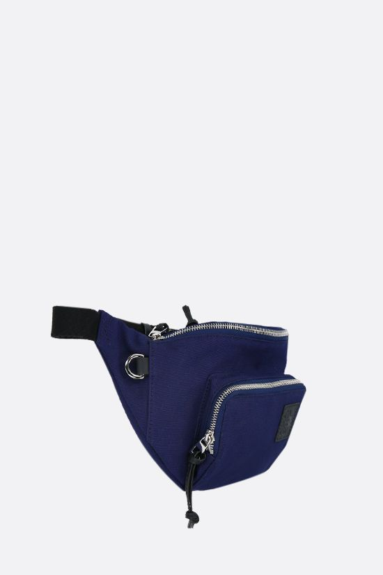 LOEWE: Anagram patch canvas belt bag Color Blue_2