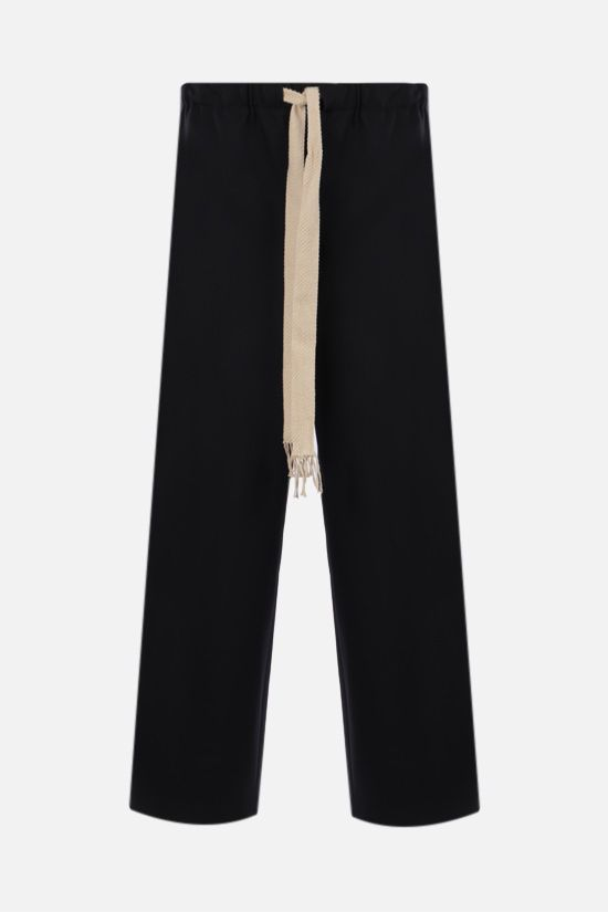 LOEWE: lightweight wool pants Color Black_1