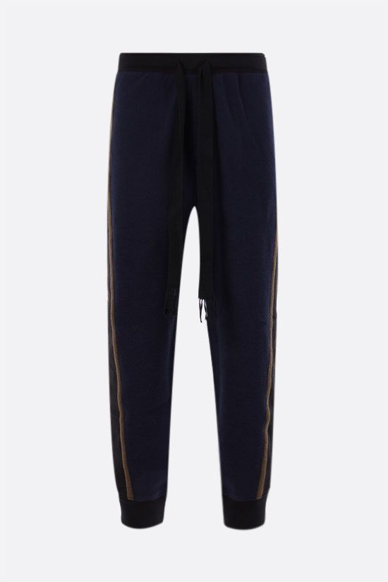 LOEWE: cotton joggers with contrasting bands Color Blue_1