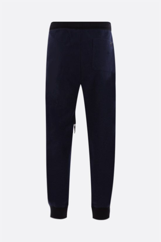 LOEWE: cotton joggers with contrasting bands Color Blue_2