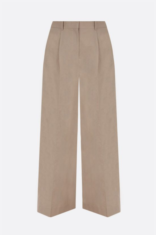 LOEWE: wide-leg cotton toile pants Color Neutral_1