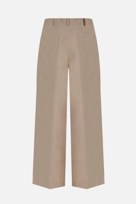 LOEWE: wide-leg cotton toile pants Color Neutral_2