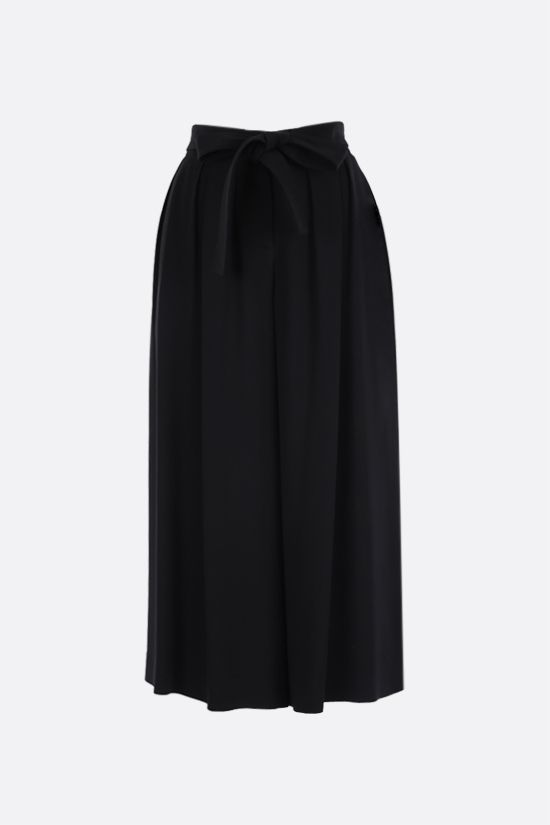 LOEWE: belt-detailed crepe culotte pants Color Black_1