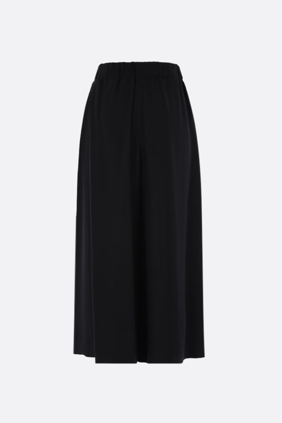 LOEWE: belt-detailed crepe culotte pants Color Black_2