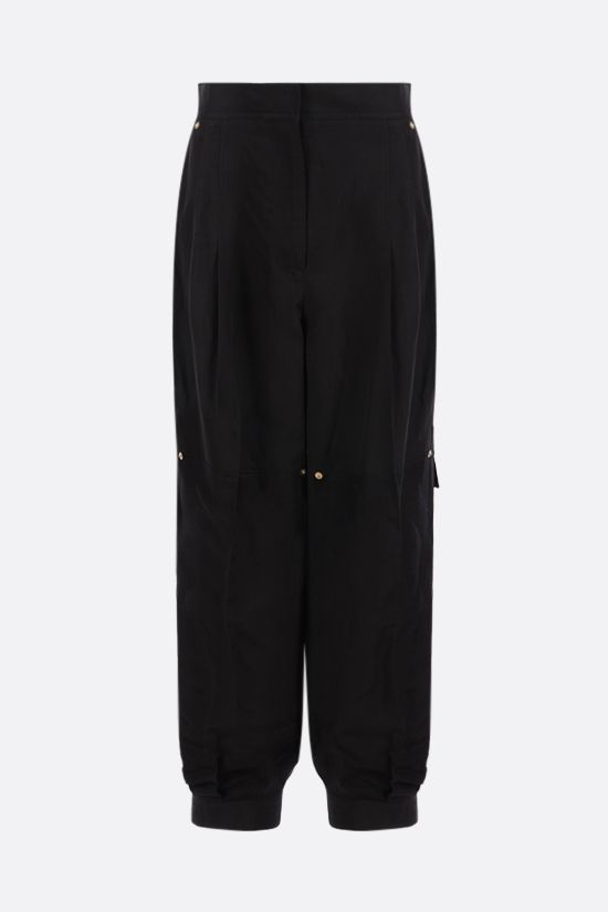 LOEWE: balloon linen blend pants Color Black_1