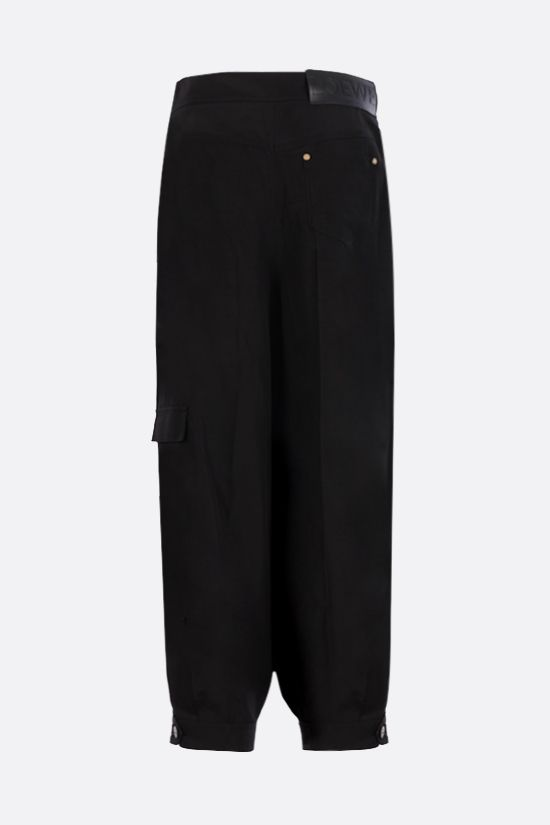 LOEWE: balloon linen blend pants Color Black_2
