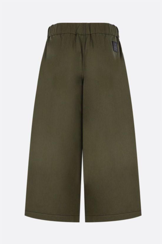 LOEWE: belt-detailed cotton linen blend cropped pants Color Brown_2