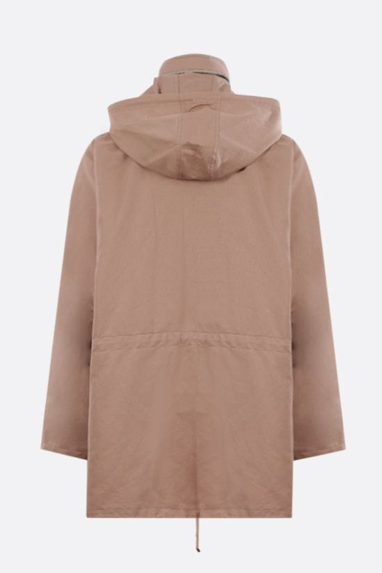 LOEWE: cotton linen blend hooded parka Color Neutral_2