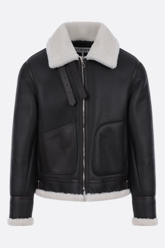 LOEWE: shearling aviator jacket Color Black_1