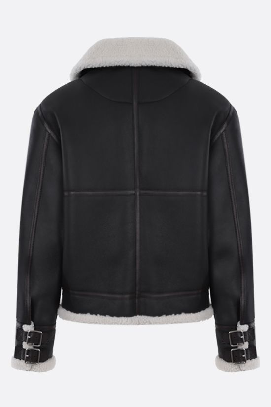 LOEWE: shearling aviator jacket Color Black_2