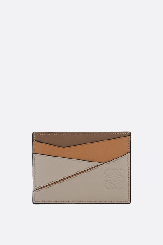 LOEWE: Puzzle card holder in Classic leather Color Multicolor_1