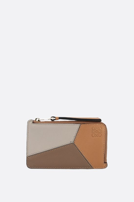 LOEWE: Puzzle card case in Classic leather Color Multicolor_1