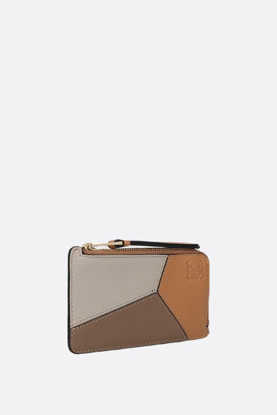 LOEWE: Puzzle card case in Classic leather Color Multicolor_2