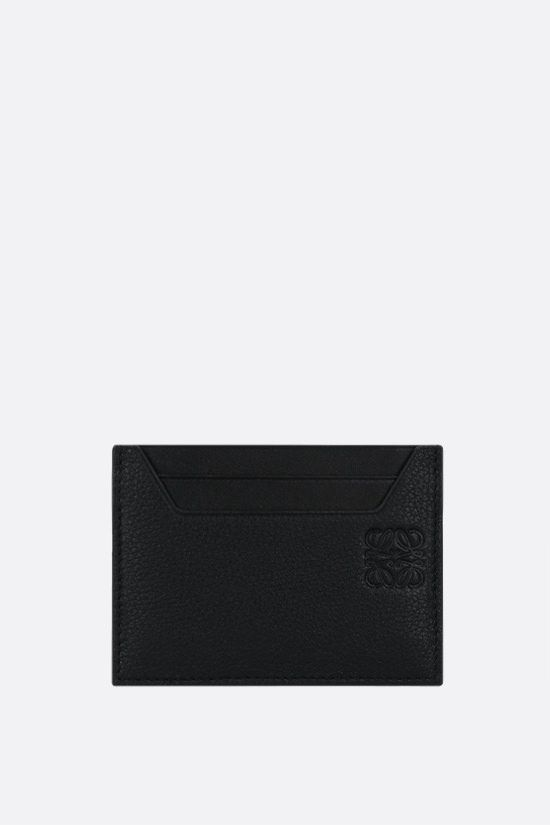 LOEWE: grainy leather card holder Color Black_1