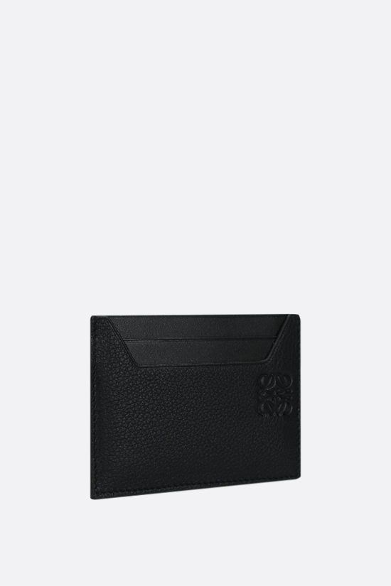 LOEWE: grainy leather card holder Color Black_2