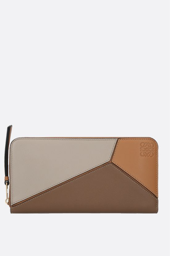 LOEWE: Puzzle zip-around wallet in Classic leather Color Multicolor_1