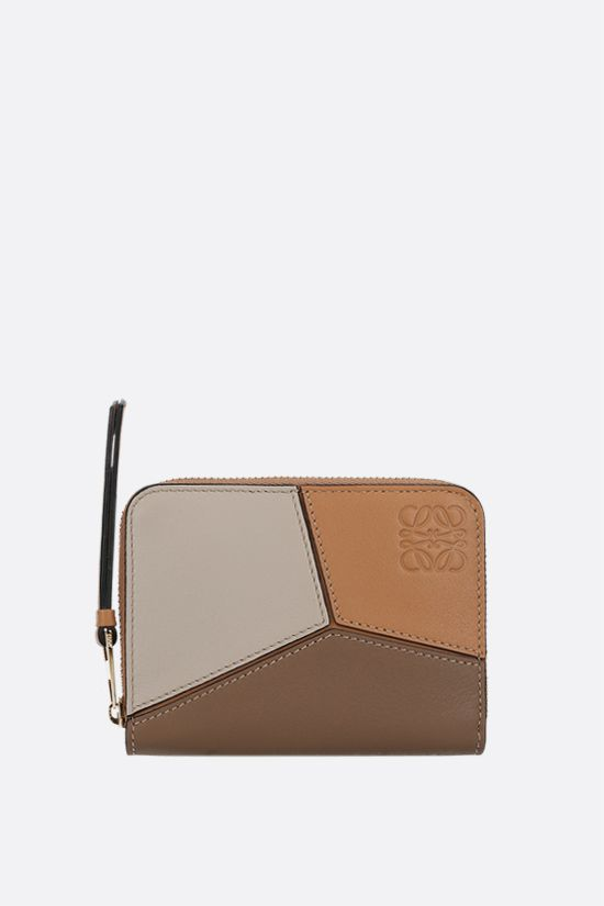 LOEWE: Puzzle mini zip-around wallet in Classic leather Color Multicolor_1
