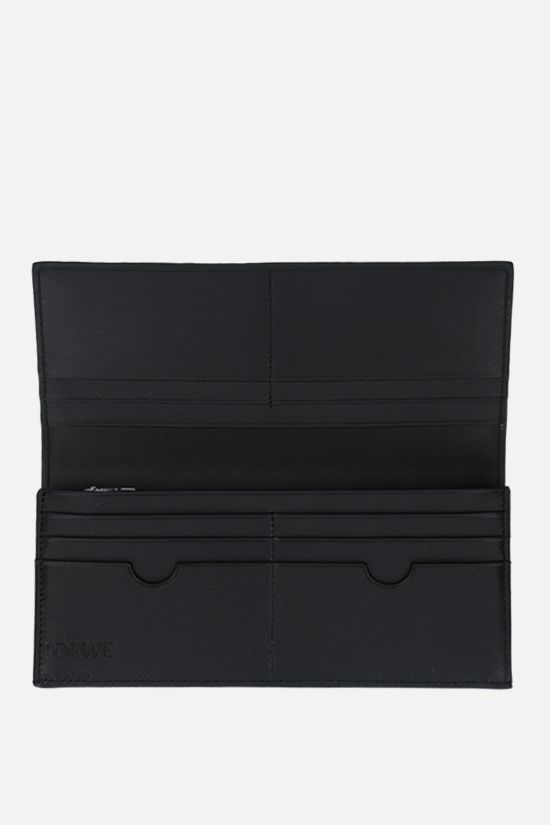 LOEWE: grainy leather long horizontal wallet Color Black_2