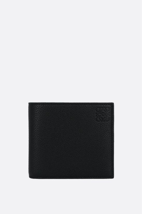 LOEWE: grainy leather billfold wallet Color Black_1