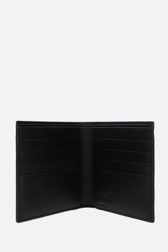 LOEWE: grainy leather billfold wallet Color Black_2