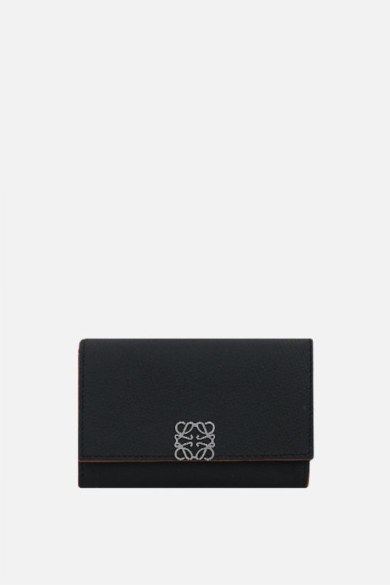 LOEWE: grainy leather chain wallet Color Black_1