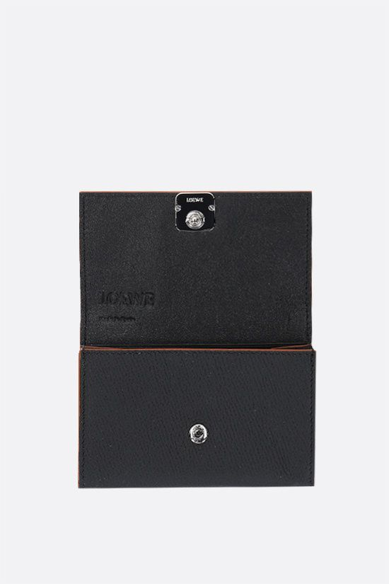 LOEWE: grainy leather chain wallet Color Black_2