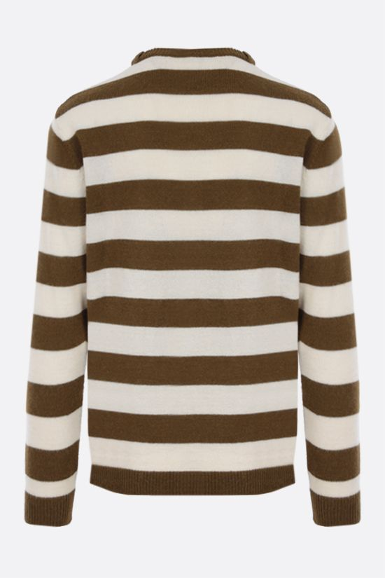 LOEWE: Anagram embroidered striped alpaca wool blend pullover Color Multicolor_2