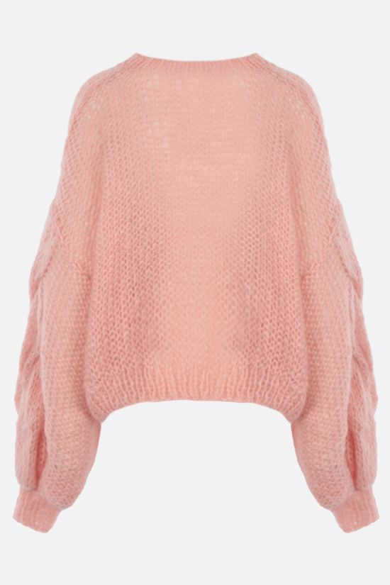LOEWE: pullover oversize Anagram in misto mohair Colore Rosa_2
