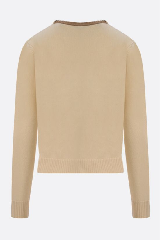 LOEWE: pullover cropepd Anagram in lana Colore Giallo_2