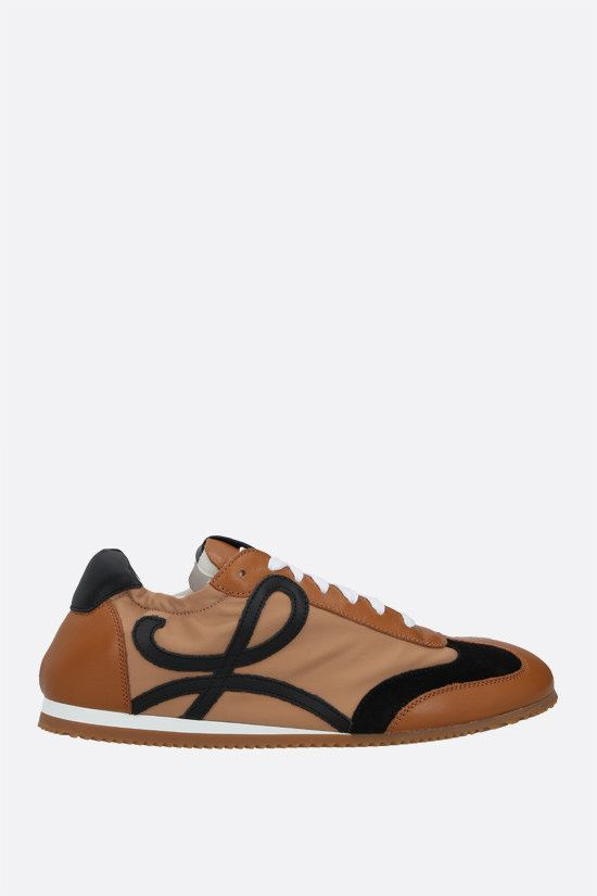 LOEWE: Ballet smooth leather and nylon sneakers Color Multicolor_1