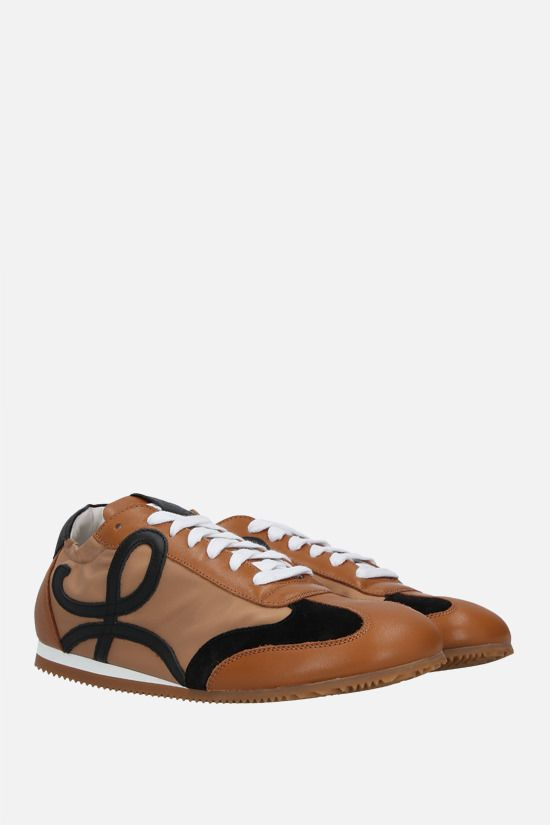 LOEWE: Ballet smooth leather and nylon sneakers Color Multicolor_2
