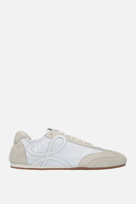 LOEWE: Ballet nylon and suede sneakers Color White_1