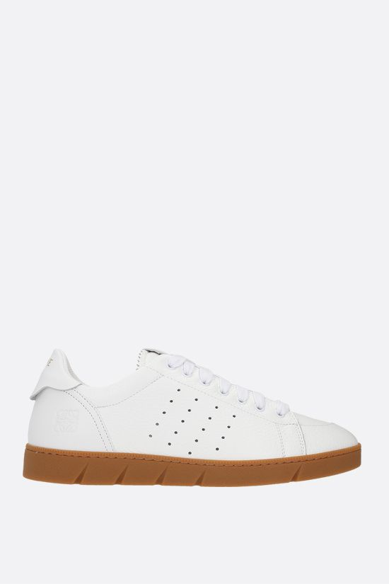 LOEWE: Soft grainy leather sneakers Color White_1
