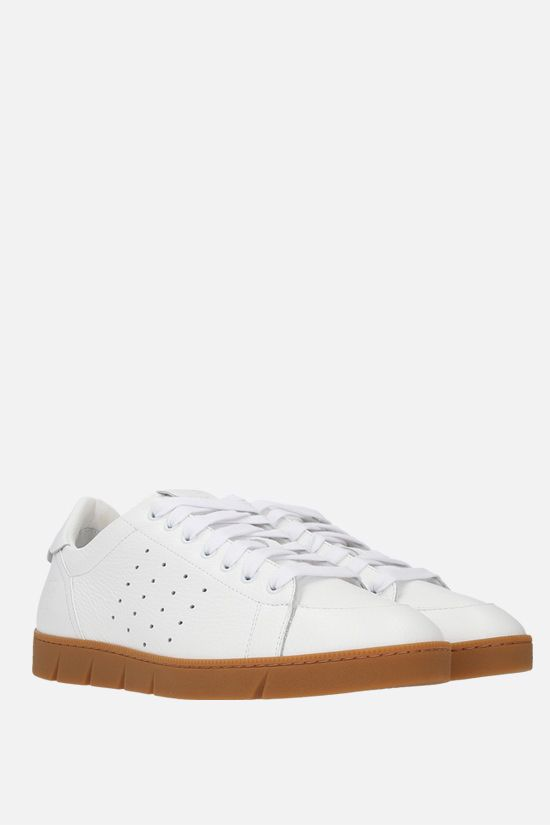 LOEWE: Soft grainy leather sneakers Color Multicolor_2