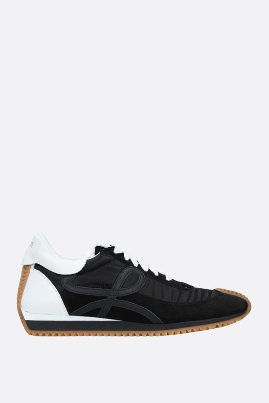 LOEWE: Flow suede and nylon sneakers Color Black_1