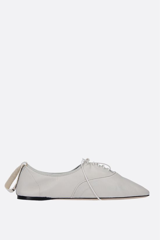 LOEWE: soft nappa derby shoes Color White_1