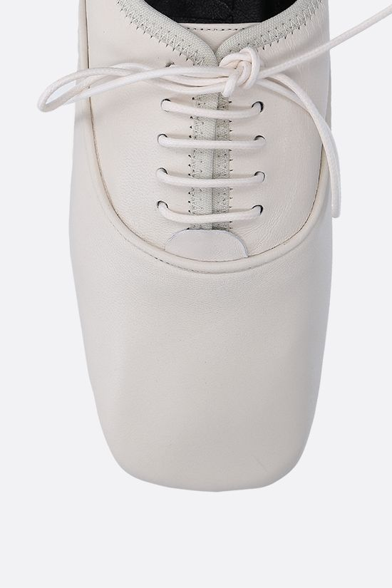 LOEWE: soft nappa derby shoes Color White_4