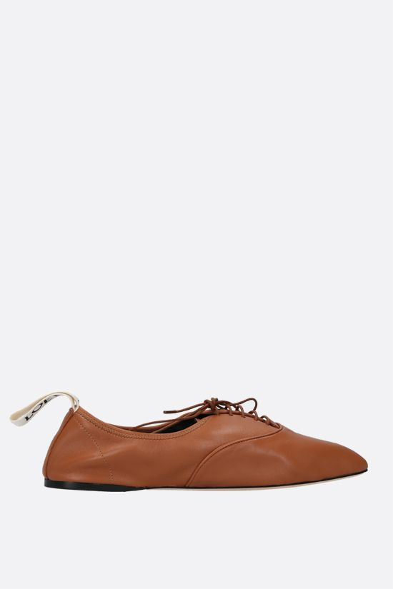 LOEWE: scarpa derby in morbida nappa Colore Marrone_1